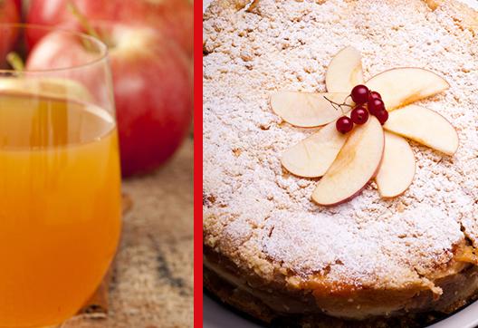 Jus et gâteau de pomme Verger Lamarche
